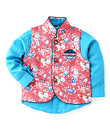 Robo Fry Full Sleeves Shirt With Jacket - Pink Blue