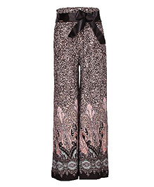 Cutecumber Plazzo Pant Multi Print - Black