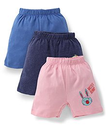 Ohms Shorts Pack of 3 Multi Print - Blue Pink