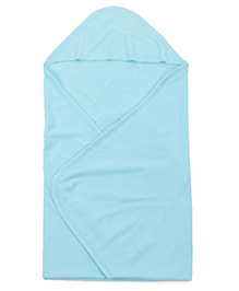 Ohms Solid Color Hooded Terry Towel - Aqua