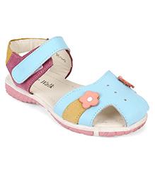 Cute Walk by Babyhug Sandals Floral Applique - Blue