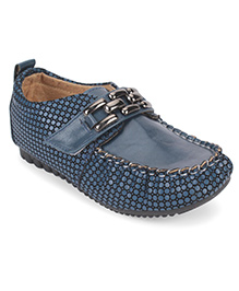 Cute Walk by Babyhug Loafers Dotted Print - Navy