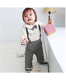 Pre Order - Petite Kids Boy Party Wear Romper Suit - Grey