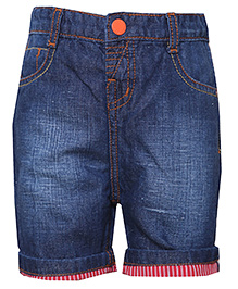 Tales & Stories Denim Bermuda Shorts - Dark Blue