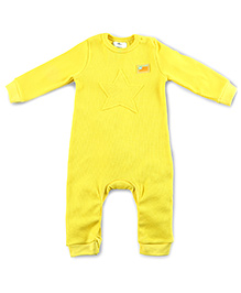Cherry Crumble California Waffle Applique Bodysuit - Sunshine Yellow