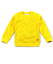 Cherry Crumble California Sweatshirt For Girls - Sunshine Yellow
