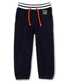 Cherry Crumble California Waffle Track Pant For Girls - Midnight Blue