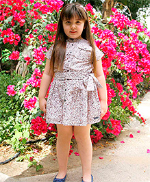 Cherry Crumble California Printed Dress For Girls - Multicolor