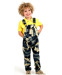 Cherry Crumble Dungaree For Boys - Grey