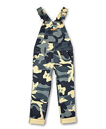 Cherry Crumble California Dungaree For Girls - Grey