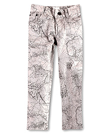 Cherry Crumble California Trouser For Girls - Dark Grey