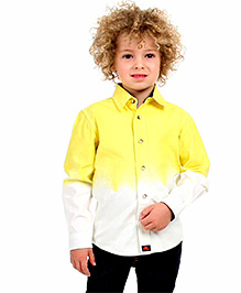 Cherry Crumble Ombre Shirt For Boys - Yellow & White