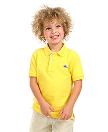 Cherry Crumble Soft Organic Cotton Polo T-Shirt For Boys - Yellow