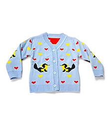 LOL Full Sleeves Sweater Squirrel Design - Blue
