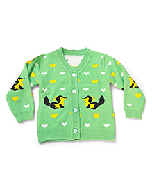 LOL Full Sleeves Sweater Squirrel Design - Green