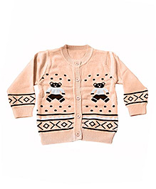 LOL Full Sleeves Sweater Teddy Design - Light Orange