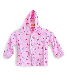 LOL Full Sleeves Hooded Top Elephant Print - Pink