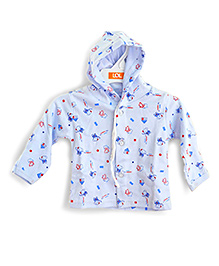LOL Full Sleeves Hooded Top Elephant Print - Blue