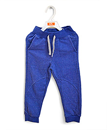 LOL Full Length Track Pants With Drawstring - Royal Blue