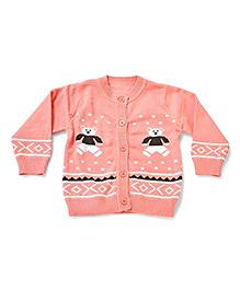 LOL Full Sleeves Sweater Teddy Design - Peach