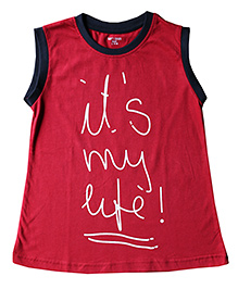 Brown Boy Mini Organic Cotton Baby Tee - Red