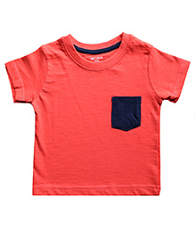 Brown Boy Mini Organic Cotton Plain Tee - Orange