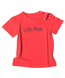 Brown Boy Mini Organic Cotton Little Man Organic Tee - Red