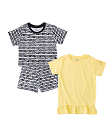 Brown Boy Mini Organic Cotton Girl Combo Set - White Yellow & Red