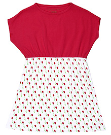 Brown Boy Mini Organic Cotton Floral Dress - Red & White