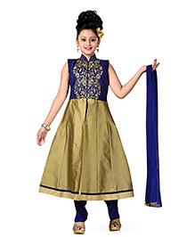 Aarika Kurta Churidar & Dupatta Set - Blue