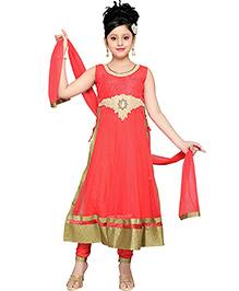 Aarika Kurta Churidar & Dupatta Set - Pink