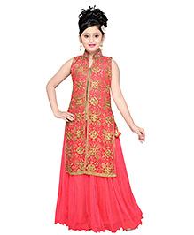 Aarika Embroidered Kurta & Lehanga Set - Pink