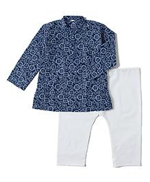 Kidcetra Kurta Pajama - Blue & White
