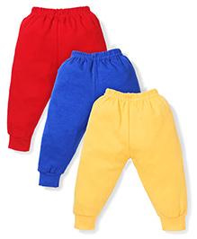 Cucumber Plain Leggings Pack Of 3 - Yellow Red Royal Blue