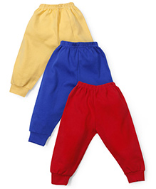 Cucumber Plain Leggings Pack Of 3 - Red Blue Yellow