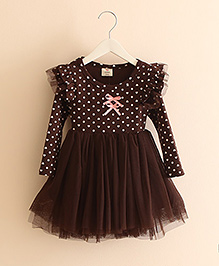 Pre Order - Mauve Collection Dress With Butterfly Wings - Brown