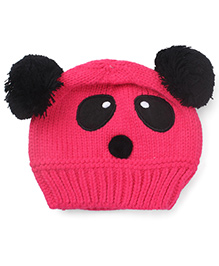Flaunt Chic Panda Winter Cap - Pink
