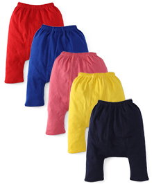 Babyhug Plain Solid Color Diaper Leggings - Pack Of 5