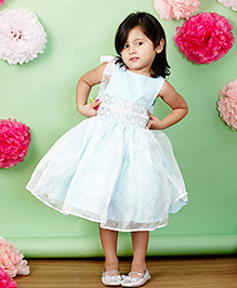 PinkCow Short Lace Dress - Sky Blue