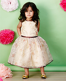 PinkCow Printed Floral Dress - Cream