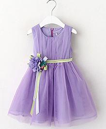 Lil Mantra Girls Dress - Purple