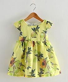 Lil Mantra Floral Print Dress - Yellow