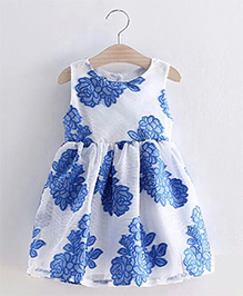 Lil Mantra Printed Dress - Blue