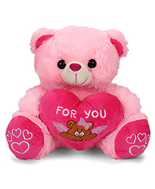 Dimpy Stuff Teddy Bear Soft Toy With Heart Pink - 40 Cm