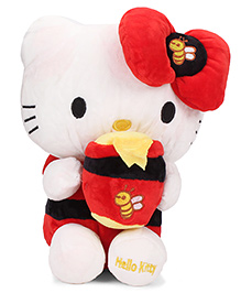 Dimpy Stuff Hello Kitty Honey Bee Soft Toy White And Red - Height 30 Cm
