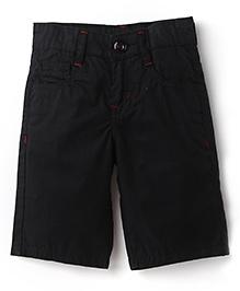 Babyhug Five Pocket Jamaican 3/4th Pants - Black