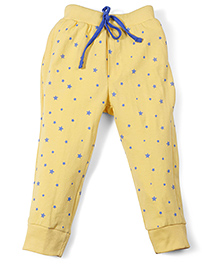 Olio Kids Full Length Star Printed Leggings - Yellow