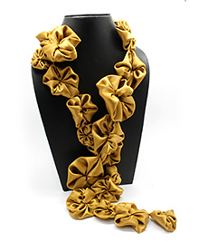 Eternz Haedos Collection Flower Scarf - Golden
