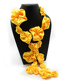 Eternz Haedos Collection Flower Scarf - Yellow