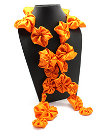 Eternz Haedos Collection Flower Scarf - Orange